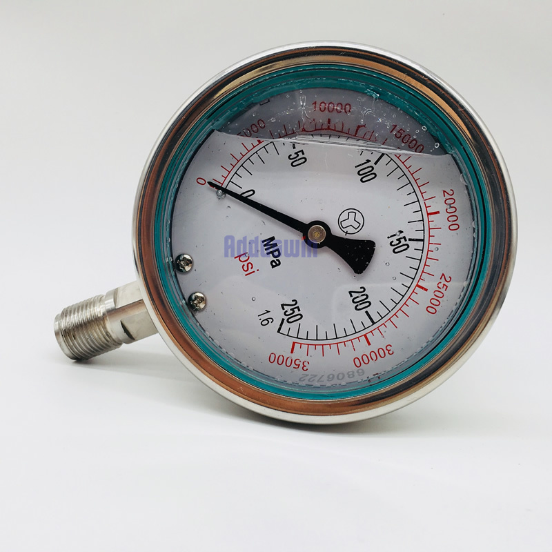 0 250MPA M20X1 5 high pressure fuel system meter gauge 2500bar common rail high pressure gauge