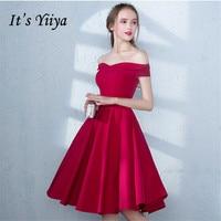 It's YiiYa 2018 Popular R Off The Shoulder Fashion Designer Elegant Cocktail Gowns Knee Length Cocktail Dress LX385