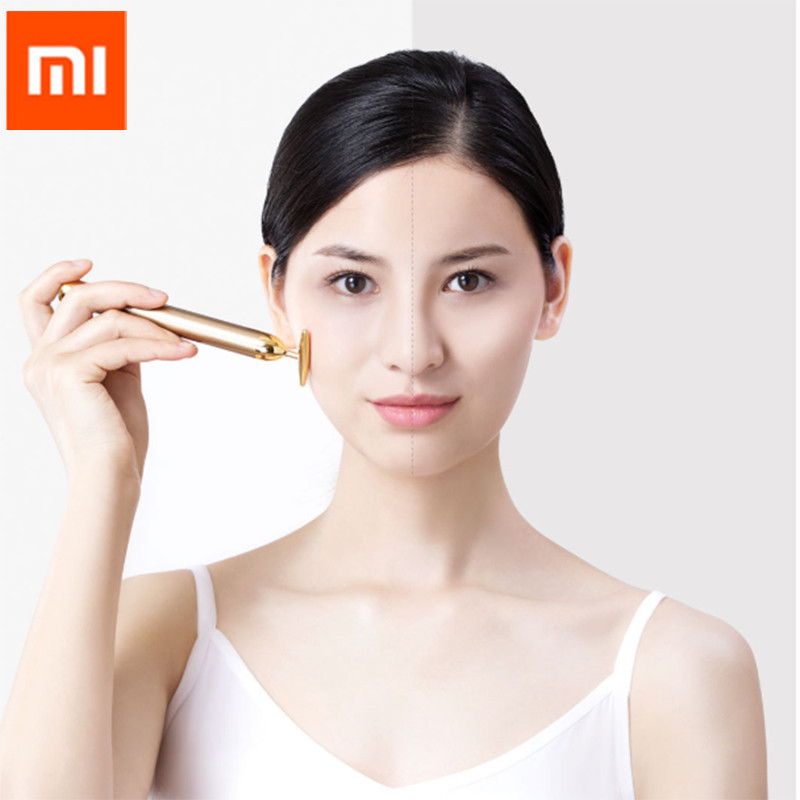 Xiaomi InFace Gold Beauty Bar Gold-plated Massage head Speed Up Metabolism Improve Edema Face-lifting SPA Portable Beauty Bar D5 beauty bar