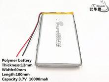 5 pçs/lote Bom Qulity 3.7 V, 10000 mAH, 1260100 Polímero de íon de lítio/bateria de Iões de lítio para o BRINQUEDO, BANCO DO PODER, GPS,