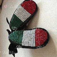 לבן טהור הטבלה חמוד DIY פניני custom made כלה בהשראת חדש נולד prewalkers נעלי נסיכת נעלי ילדה קטנות