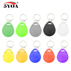 50pcs EM4305 T5577 Copy Rewritable Writable Rewrite EM ID keyfobs RFID Tag Key Ring Card 125KHZ Proximity Token Badge Duplicate