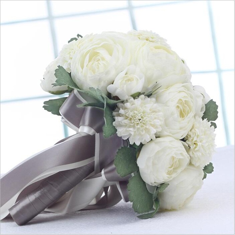 What Are Cheap Flowers For Weddings: Elegant Romantic Simulation Flowers Artificial Wedding