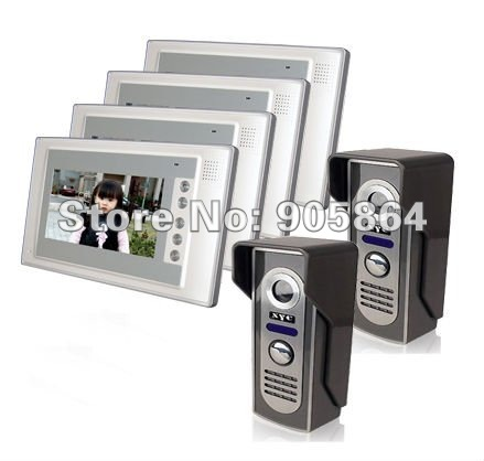 7″ Full Color Video  Door Phone Monitor Security Kit (2 to 4)