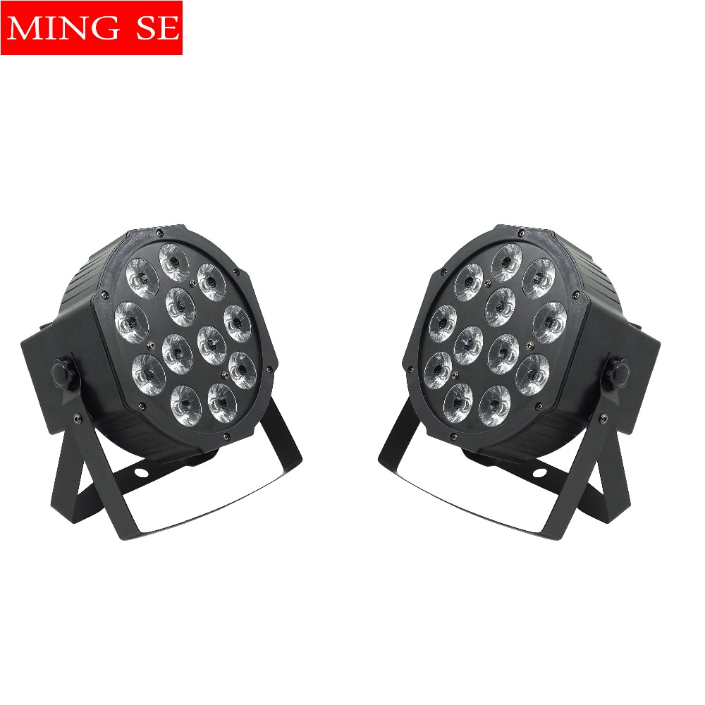 2pcs/lots Flat Par Led Of 12x12w RGBWA UV 6in1 Led Par Light Can Par 64 Led dj Projector Wall Washer Lighting Stage Light tiptop tp p70d 4 pack 18 18w rgbwa purple led par light special effect smooth wall washer light tyanshine led 6in1 lamp 100 220v