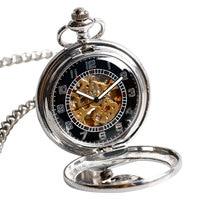2016 Vintage Watches Pocket Clock Pendant Self Wind Fob Phoenix Classic Elegant Retro Auto Mechanical Nurse Gift Steampunk Hours