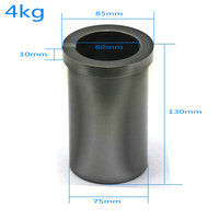 Graphite Crucible 4 KG Metal Melting Gold Silver Scrap Casting Mould Free Shipping