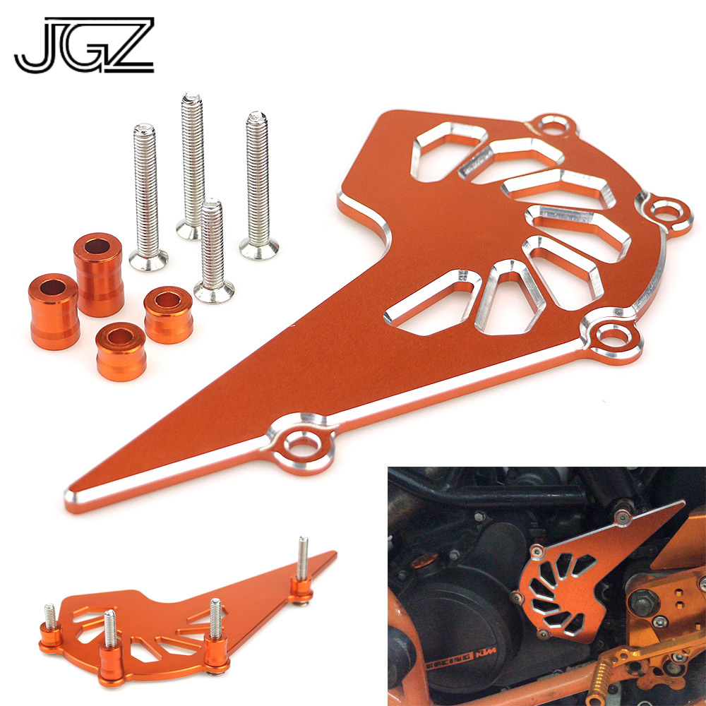 Orange Motorcycle CNC Aluminum Front Sprocket Chain Cover Guard Protect Accessories for KTM Duke 125 200 390 2013 2014 2016-2018 fx cnc motorcycle 320mm floating front brake disc rotor aluminum for ktm duke 125 200 390 duke390 2012 2013 2014 2015 2016