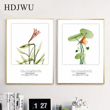 Nordic Art Home Canvas Painting Flower Plant Printing Posters Wall Pictures for Living Room AJ00126