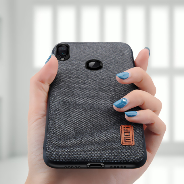 MOFi Xiaomi Redmi Note 7 Luxury Shockproof Fabric Design Back Case Cover