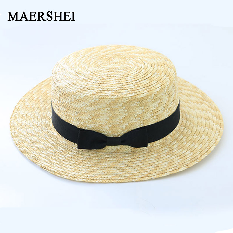 e446dbd93e395 MAERSHEI Summer women straw hat Parent-child sun hat Kids Large Brim Beach  caps Boater