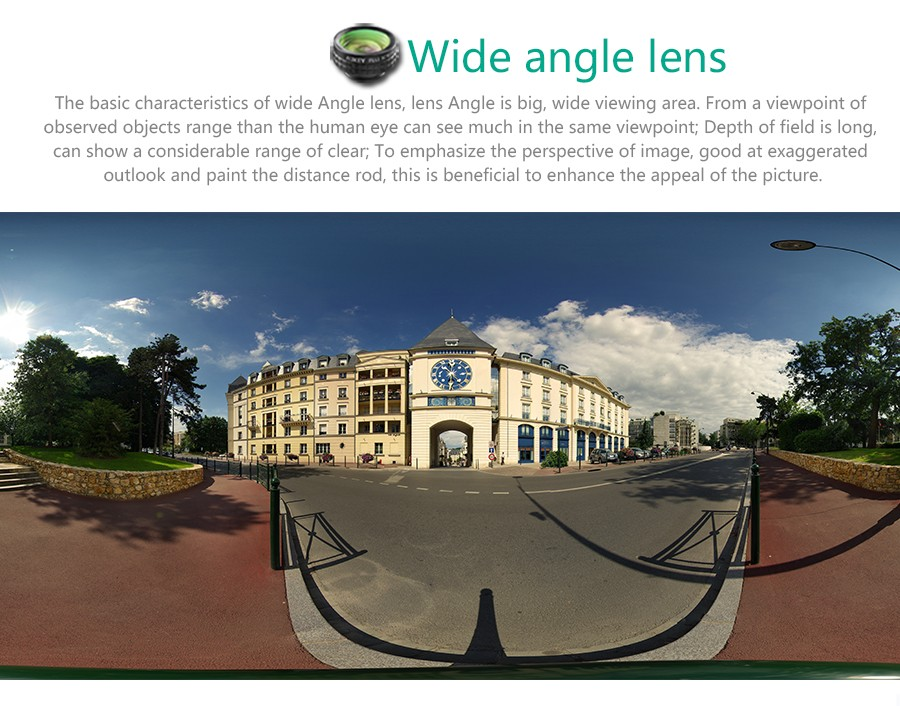 AUKEY Fish eye Lens 3in 1 Clip-on Cell Phone Camera 180 Degree Fisheye Lens+Wide Angle+Macro Lens for iPhone 7Plus Xiaomi & More 7