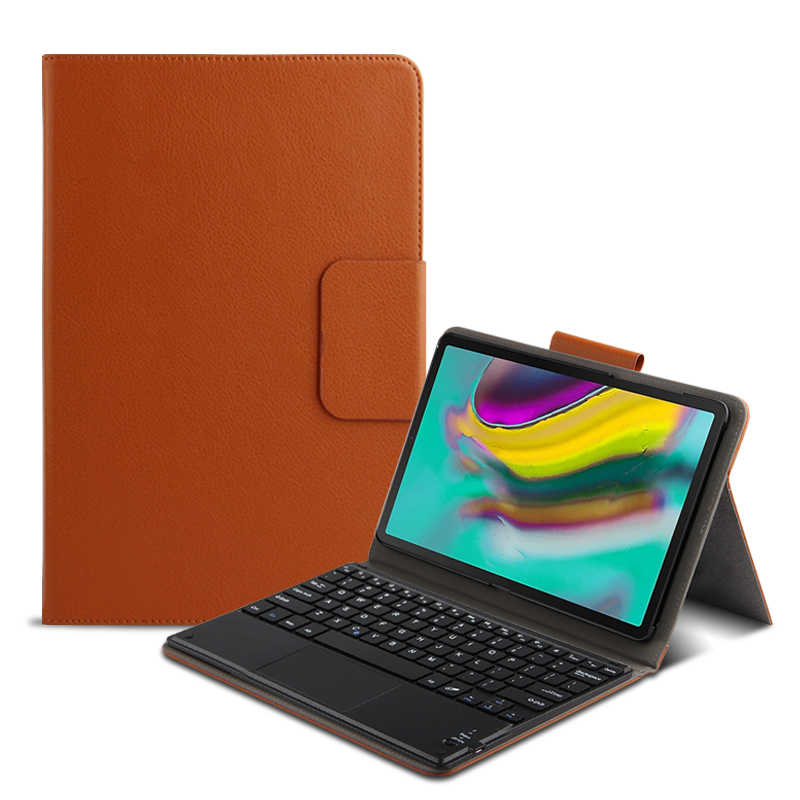 Etui intelligent clavier pour Samsung Galaxy Tab S5E SM-T720 T725 10.5 tablette PC Bluetooth clavier protection PU cuir couverture + film