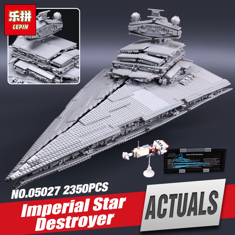 LEPIN 05027 3250Pcs Star Wars Emperor fighters starship Model Educational Building Kit Blocks Bricks Toy Compatible 10030