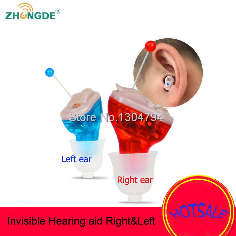 2017NEW!ZhongDe Invisible Hearing aid inner Ear Adjustable Wireless Mini CIC Hearing Aids Left/right Ear Best Sound Amplifier guangzhou feie deaf rechargeable hearing aids mini behind the ear hearing aid s 109s free shipping