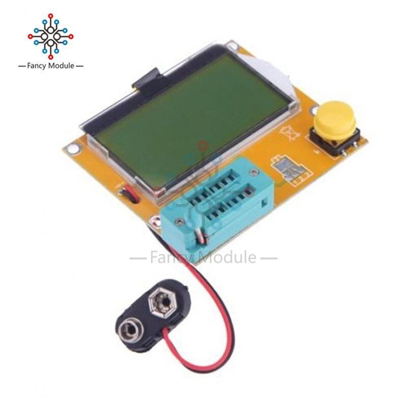 Mega328 ESR-T4 Digital Transistor Tester Diode Triode Capacitance ESR Meter MOS/PNP/NPN LCR 128*64 LCD Screen V2.68