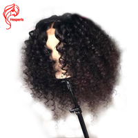 Hesperis 150 Density Lace Front Human Hair Wigs Pre plucked With Baby Hair Brazlian Remy Hair Bouncy Curl Lace Front Wigs