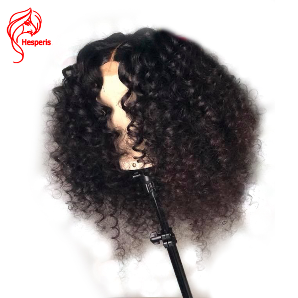 Hesperis Lace Front Human Hair Wigs Pre-plucked With Baby Hair 150 Density 13x6 Brazlian Remy Hair Bouncy Curl Lace Front Wigs