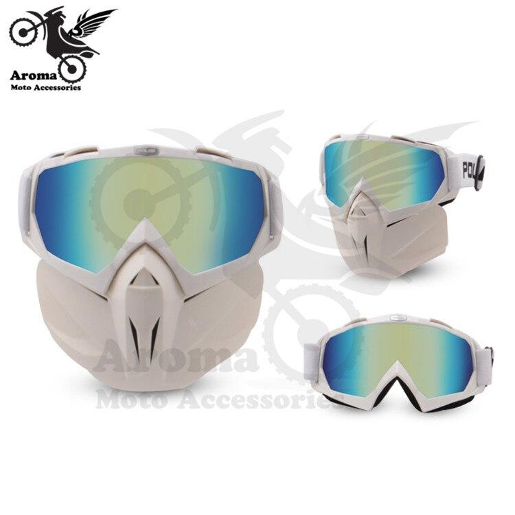 Coloré clair lentille moto rbike protection des yeux moto universelle dirt pit vélo tout-terrain course moto rcycle lunettes moto cross goggle - 2