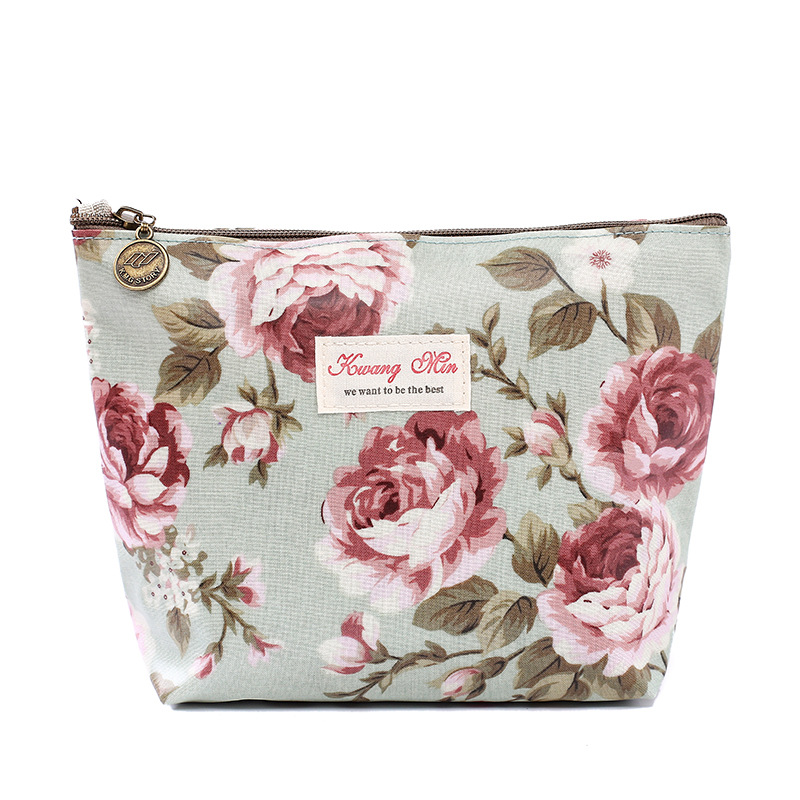 2018 Women Make Up Bags Flower Cotton Zipper Cosmetic Cases Casual Girls Clutch Bag Lady Pouch Storage Item Organizer Waterproof women make up cases small cosmetic bags child girls boys stationery school supplies