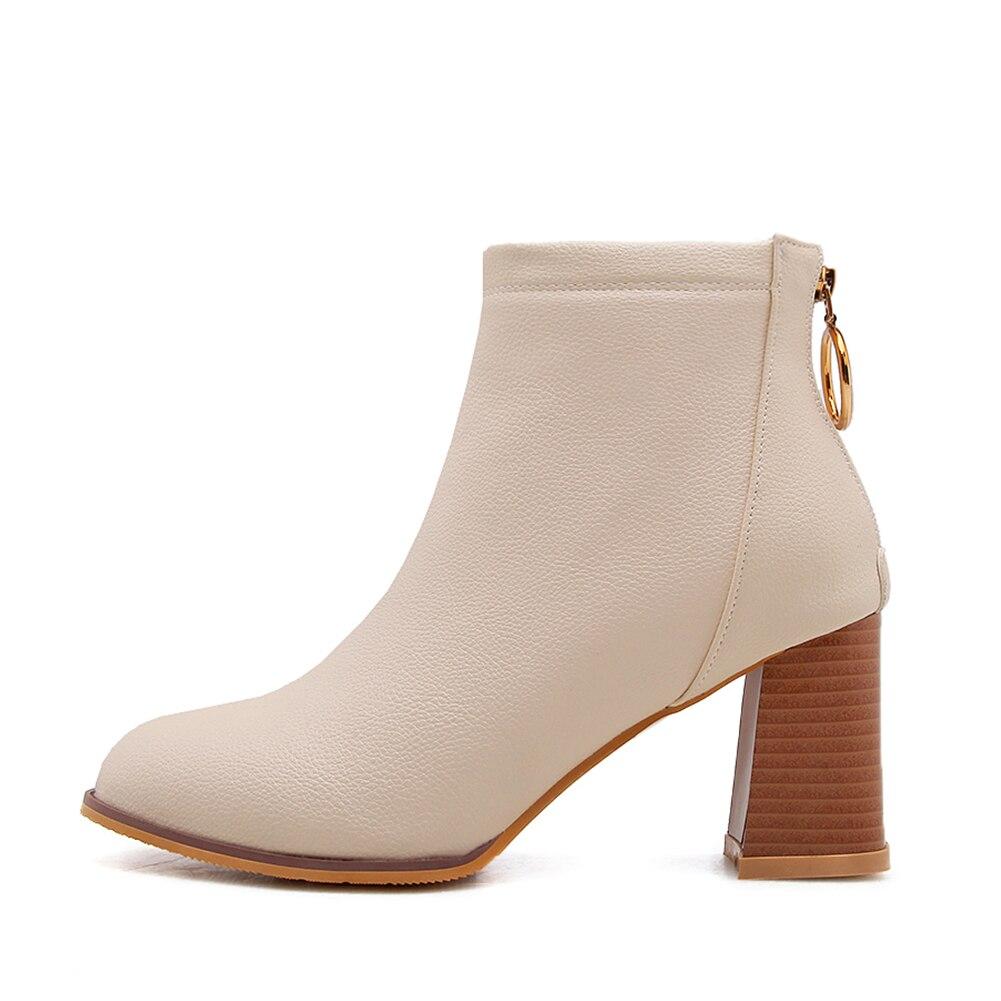 Stivali bianco 2018 Moda Caviglia Lapolaka Tacco 32 Dropship 46 Alto Beige Scarpe  Donna Della Grandi Di Da Elegante Dimensioni ... 307ebf36997