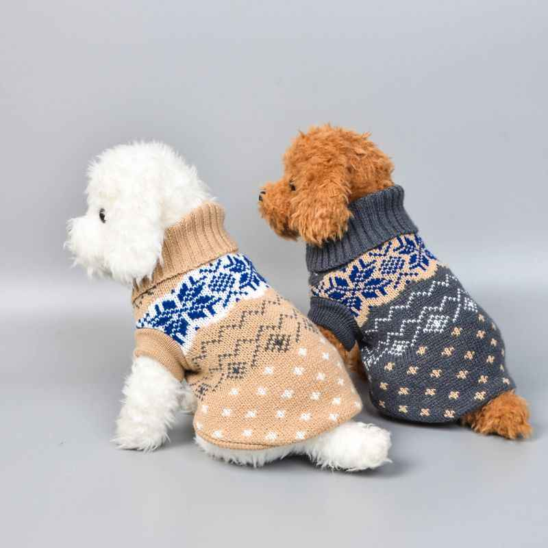 19c4872c8 Winter Dog Clothes Pet Dogs Cat Knitwear Christmas Sweater Puppy Warm Coat  Chihuahua Cute Clothing For