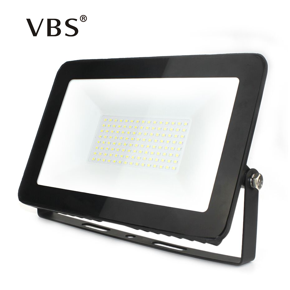 Ultra Thin LED Floodlight 10w 30w 50w 100w 150w IP65 Vattentät Flood Light Utomhusbelysning AC180-265V LED Spotlight Reflector