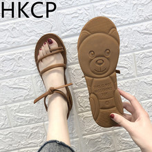 HKCP summer 2019 flat slip-resistant open-toe sandals for women beach shoes casual strappy sandals for women C145