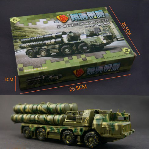 4D Plastic Assembled Air Defense Missile Launching Vehicle 1 72 Scale Puzzle Assembling Military Model Toys