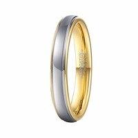 4 MM Srebrny i Złoty Kolor Węglik wolframu Wedding Band Pierścień Najlepszy Rocznica Dziewczyny i Kobiety Cienki Finger Biżuteria