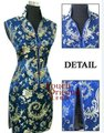 Special Offer Navy Blue Female Rayon Qipao Top Mini Sexy Cheongsam Chinese Formal Evening Gown Dress Size S M L XL XXL XXXL P012
