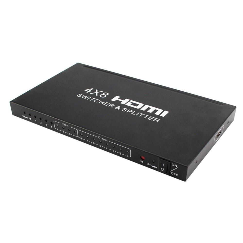 Hdmi Switcher 4 In 8 Aus 4*8 Hd Hdmi Tv Video Kvm-switch Hdmi 4 K Computer & Büro 2 K 3d Taille Und Sehnen StäRken
