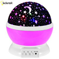 New Star Moon Sky Rotation Night Light Romantic Projector Light Projection With High Quality For Kids