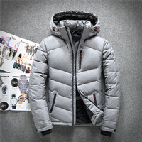 New Fahison brand high quality men down jacket casual winter men's coat hoodies goose feather warm short winter snow parka