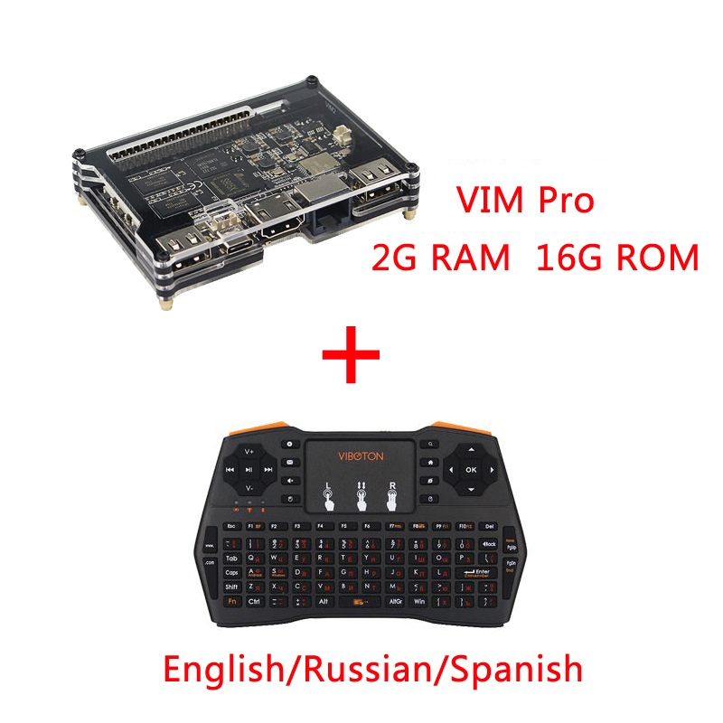 Khadas VIM Basic Pro Open Source Android TV Box Quad Core Amlogic S905X Octa Core 2G DDR3 Dual WiFi Bluetooth DIY Set top Box