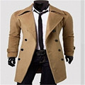 Fashion Autumn fashion trench coats Coat Winter Outwear Long Jacket Double Breasted Peacoat Warm Overcoat