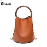 FUNMARDI Fashion Metal Top Handle Bag Vintage Luxury Composite Bags Simple Design Shoulder Bag Cross Body