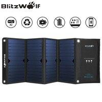 BlitzWolf Dual USB Солнечное Мощность банк Панели солнечные Мощность банк Комплекты внешних аккумуляторов для iPhone X 8 для samsung телефон резервного ко