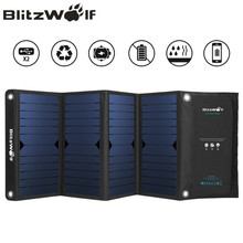 BlitzWolf Dual USB Solar Power Bank Solar Panel Powerbank External Battery Pack For iPhone X 8 For Samsung Phone Backup Charger