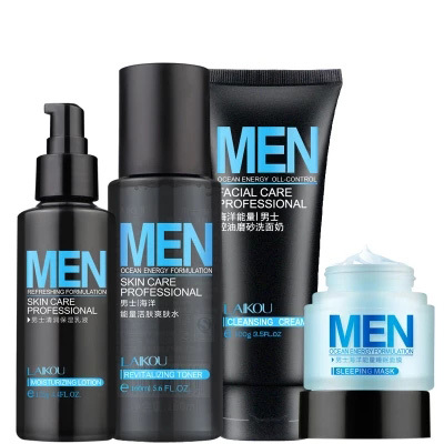 deb64ad012ec LAIKOU Pcs Set Men s Skin Care Professional Cleanser  Toner  Lotio  Sleep  Mask