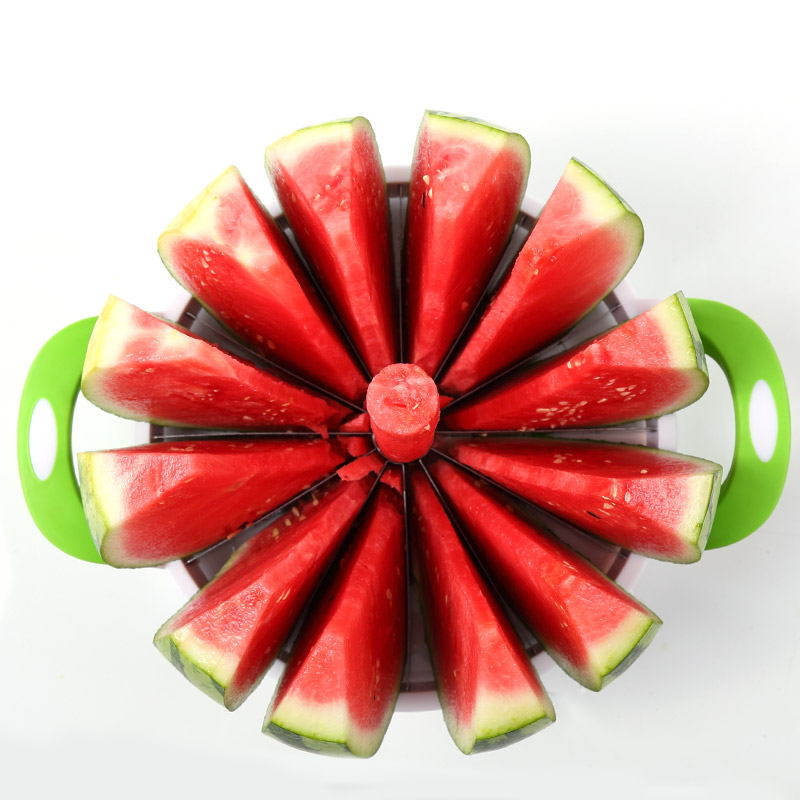 Kitchen Practical Tools Creative Watermelon Slicer Melon Cutter Knife Divider Stainless Steel Fruit Cutting Slicer