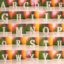 27 шт. домашний декор, белые деревянные буквы, 26 деревянных букв английского алфавита, украшения для дома, свадьбы, вечеринки, номер, поделки своими руками