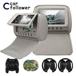 2 sztuk 9 Cal DVD zagłówek monitory samochodowe 800*480 osłoną na zamek błyskawiczny ekran TFT LCD MP5 odtwarzacz wsparcie IR /FM/USB/SD/głośnik/gra samochód TV