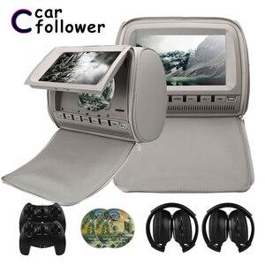 Image 1 - 2PCS 9 Inch DVD Kopfstütze Auto Monitore 800*480 Zipper Abdeckung TFT LCD Bildschirm MP5 Player Unterstützung IR /FM/USB/SD/Lautsprecher/Spiel Auto TV