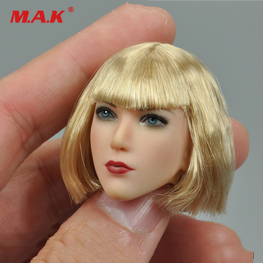 1/6 Scale Female Head Sculpt Blond Short Hair Blue Eyes Head Carving Model Toys for 12 inches Action Figure Body Accessory цена