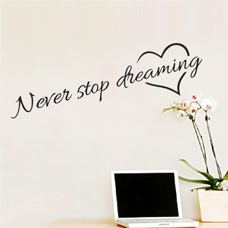 HTB1Jo7JJpXXXXbAXVXXq6xXFXXXV - Never stop dreaming wall sticker