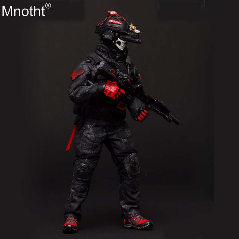 Mnotht 1/6 THE LAST Tactical Suit VH1050 Seals CQB Black Python ZERT Clothes Model Accessory for 12in Soldier Action Figure m3nMnotht 1/6 THE LAST Tactical Suit VH1050 Seals CQB Black Python ZERT Clothes Model Accessory for 12in Soldier Action Figure m3n