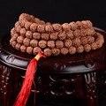 Тибетский KingKong Бодхи Бисером Браслет 108 Четки 8 мм Круглый Красный Кисточкой Браслеты Рудракши Бодхи Семена Будды Молитва Джапа Мала