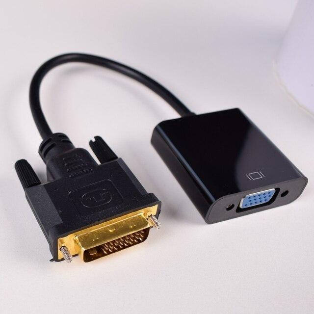DVI ל vga ממיר, 1080P DVI D כדי VGA כבל, 24 + 1 25 פינים DVI זכר 15 פין VGA נקבה מתאם