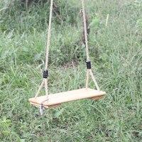 Детский Крытый качели деревянные бесшовные деревянные качели для отдыха на открытом воздухе висит стул двор Аксессуары детская игрушка